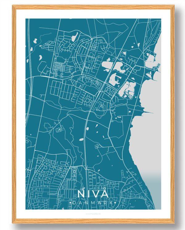 Nivå plakat - blå