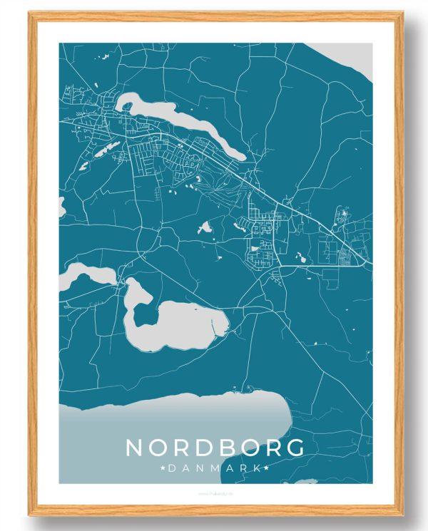 Nordborg plakat - blå