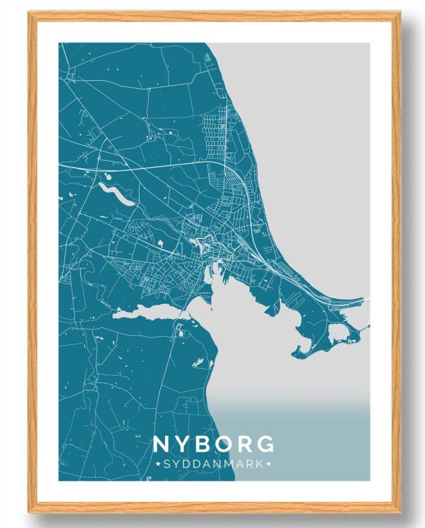Nyborg plakat - blå