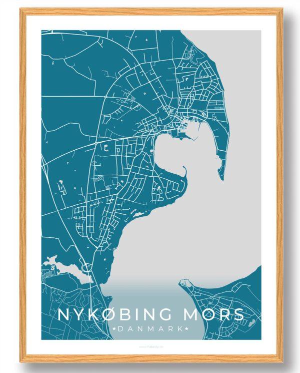 Nykøbing Mors plakat - blå