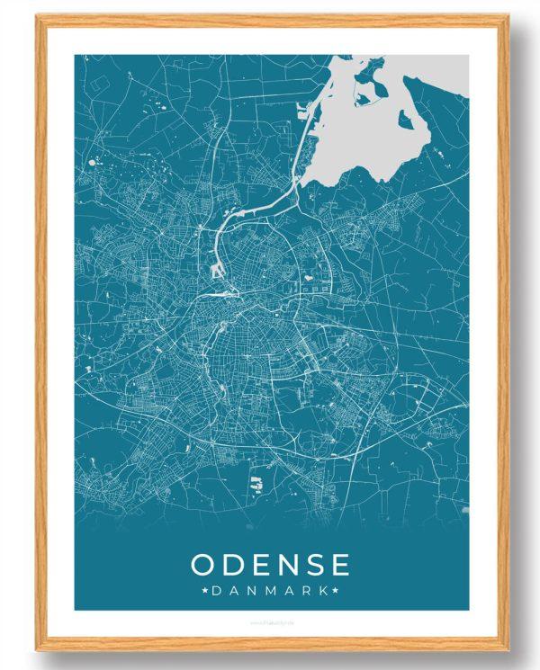 Odense plakat - blå