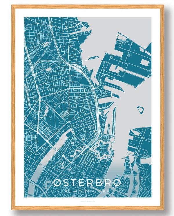 Østerbro plakat - blå