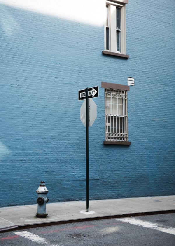 One blue way - Fotokunst plakat