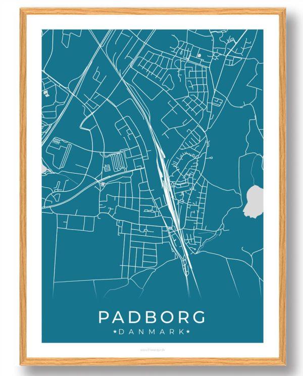Padborg plakat - blå