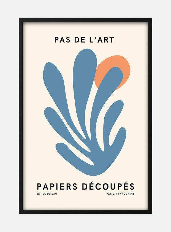 Pas De L'art Blå og Orange Plakat