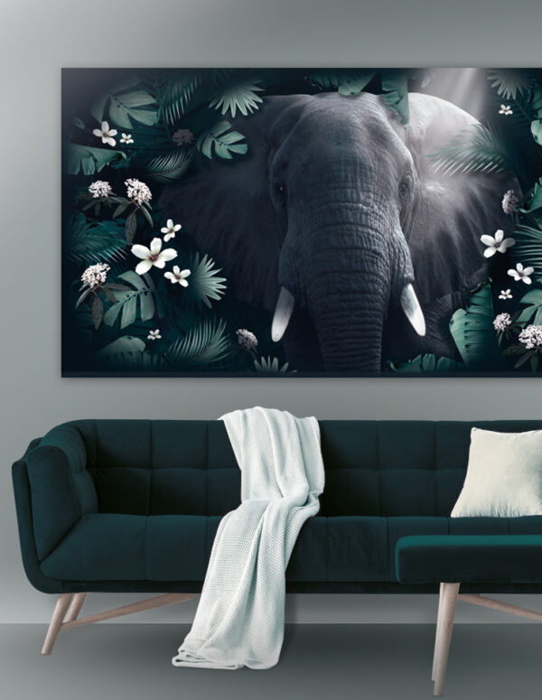 Plakat / Canvas / Akustik: Jungle Elefant Animals / Panorama)