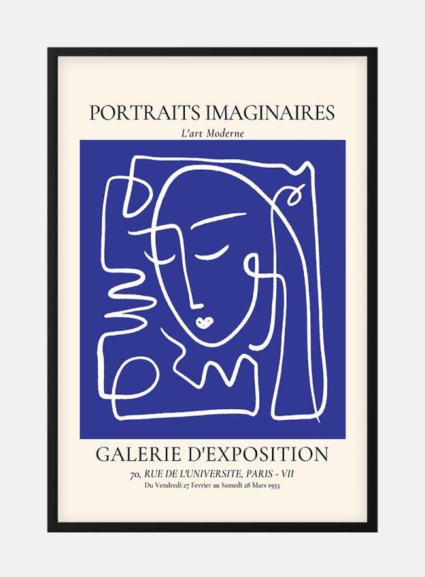 Portraits Imaginaires Blue No. 2 Plakat