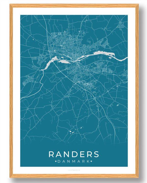 Randers plakat - blå