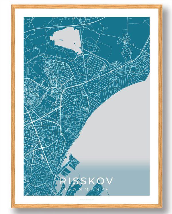 Risskov plakat - blå