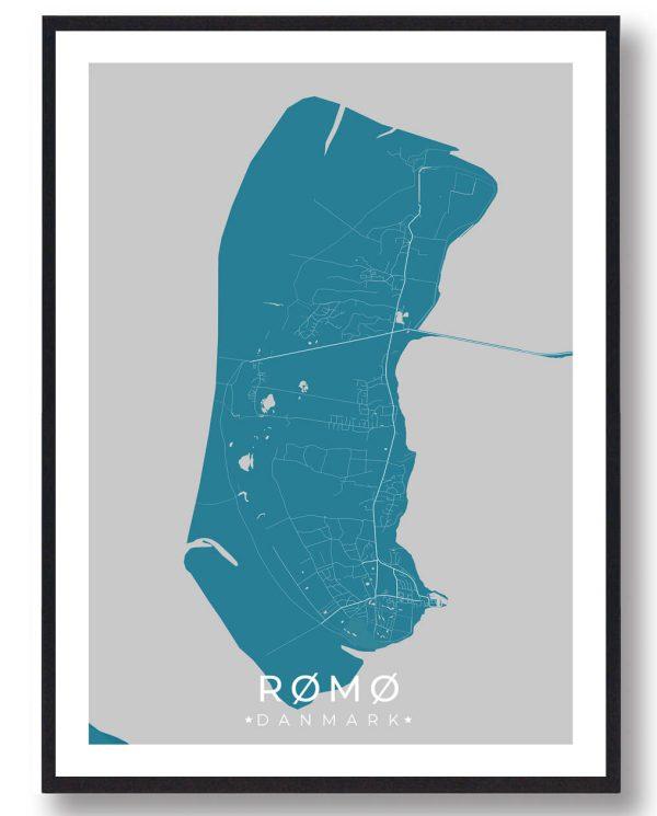 Rømø plakat - blå