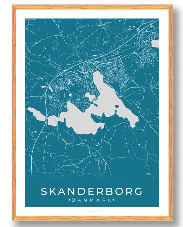 Skanderborg plakat - blå