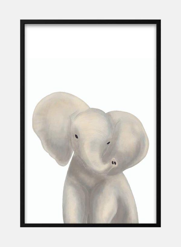 Sød elefant plakat til børn