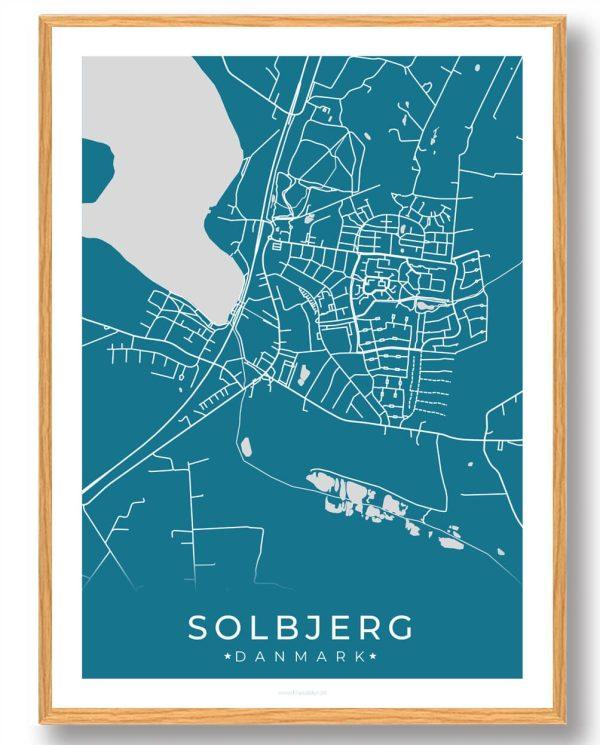 Solbjerg plakat - blå