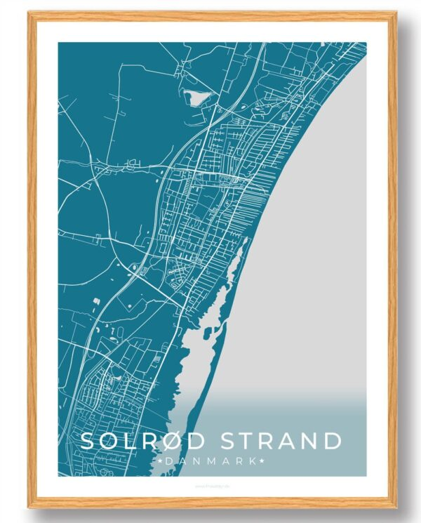 Solrød Strand plakat - blå