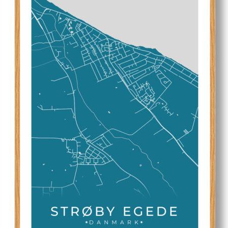 Strøby Egede plakat - blå