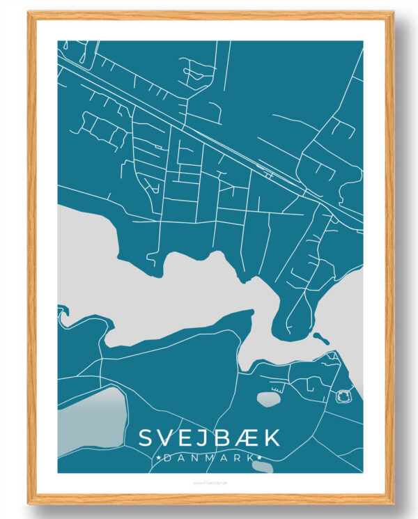 Svejbæk plakat - blå