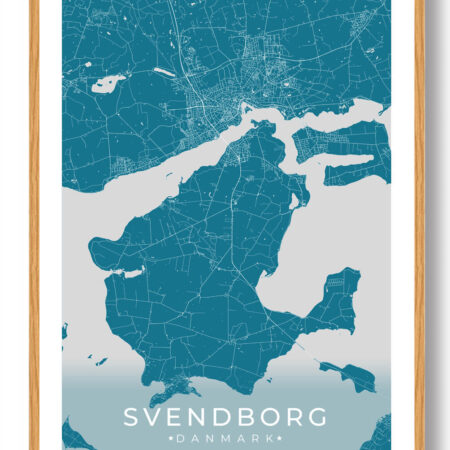 Svendborg plakat - blå