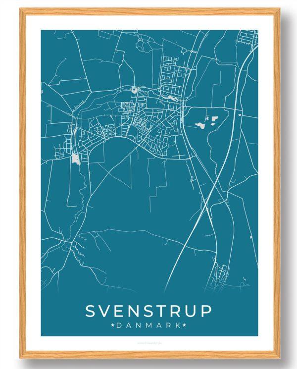 Svenstrup plakat - blå