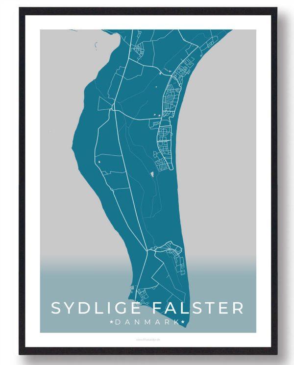 Sydlige Falster plakat - blå