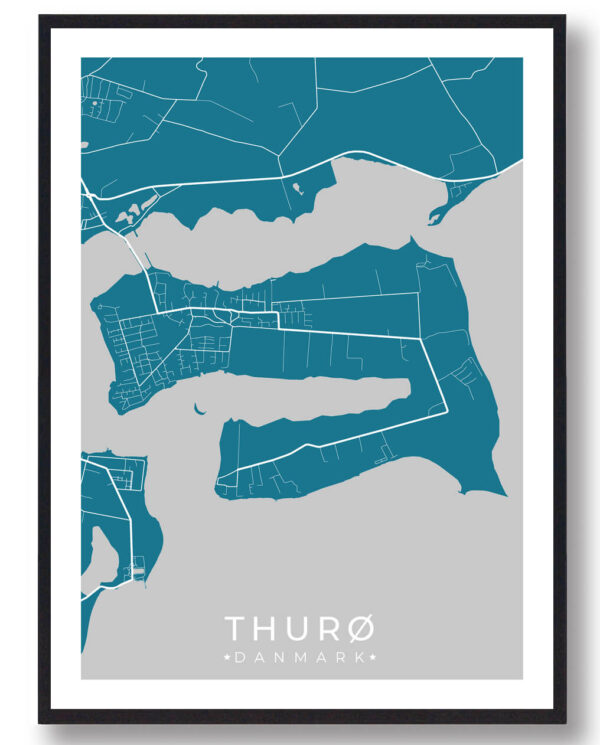 Thurø plakat - blå