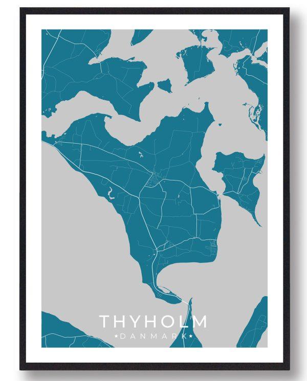 Thyholm plakat - blå
