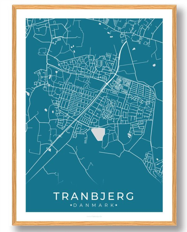 Tranbjerg plakat - blå
