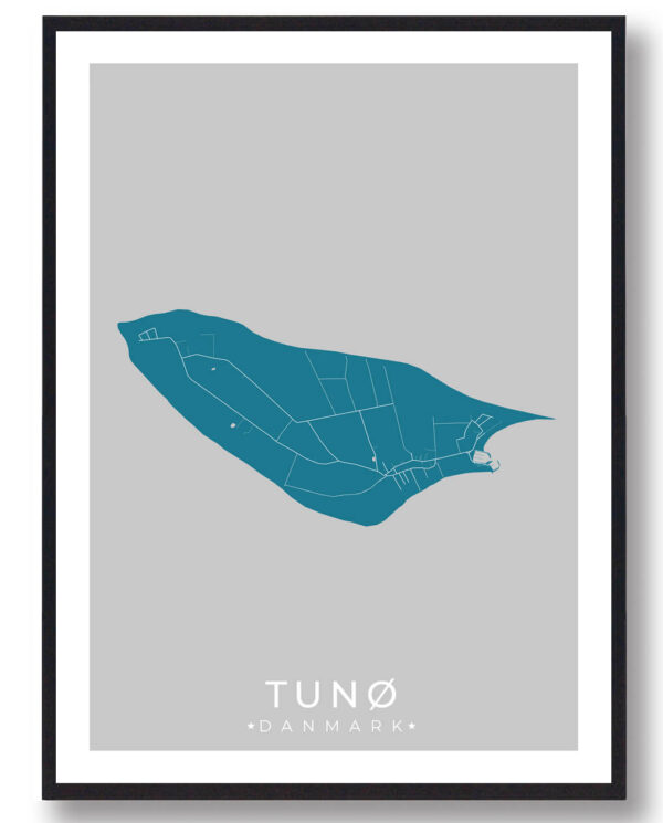 Tunø plakat - blå