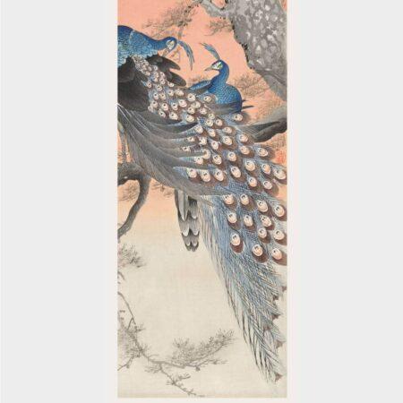 Two blue peacocks - Japansk kunst plakat