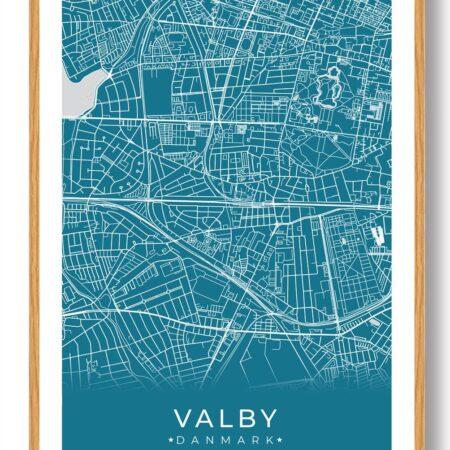 Valby plakat - blå