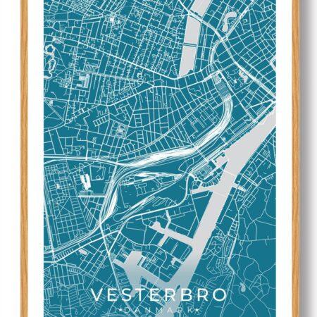 Vesterbro plakat - blå