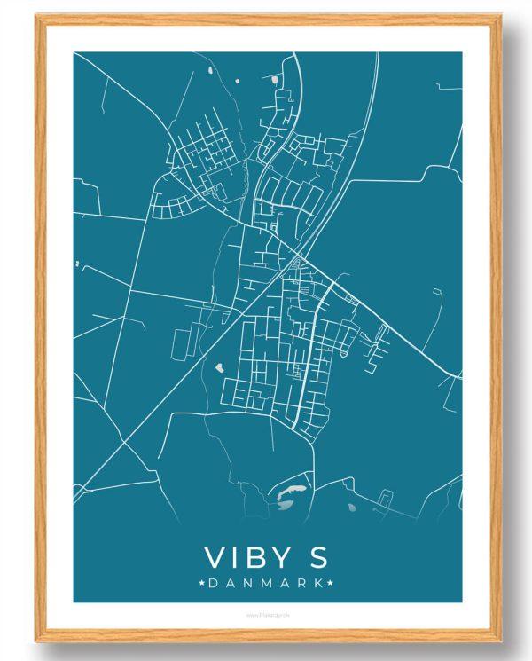 Viby S plakat - blå