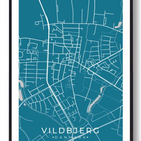 Vildbjerg plakat - blå