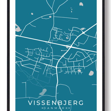 Vissenbjerg plakat - blå