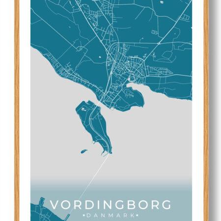 Vordingborg plakat - blå