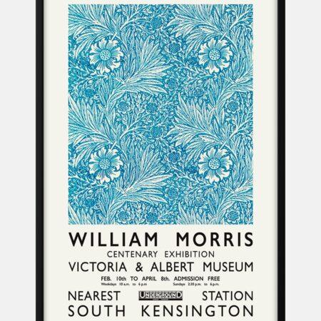 William Morris blue plakat